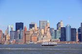 Estatua de la libertad en nueva york manhattan — Foto de Stock