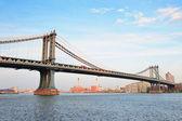 нью-йорк сити манхэттенский мост — Стоковое фото