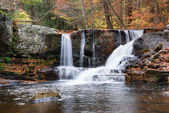 Autumn Waterfall in mountain — Stock Photo