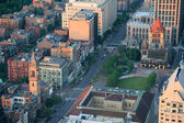 Boston street aerial view — Stock Photo
