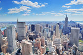 Panorama de manhattan nueva york — Foto de Stock