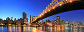 Queensboro Bridge and Manhattan — Stock Photo