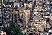 New York City Flatiron Building aerial view — Stock Photo