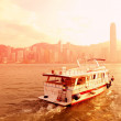 Boat and Hong Kong — Stock Photo