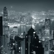 Hong Kong at night in black and white — Stock Photo #11499918