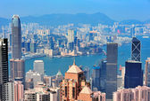 Hong Kong aerial view — Stock Photo