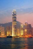 香港ビクトリア港朝 — ストック写真