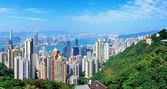 Hong Kong mountain top view — Stock Photo