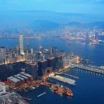 Hong Kong aerial night — Stock Photo #11683480