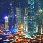Hong Kong aerial night — Stock Photo #11683535