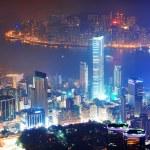 Hong Kong aerial night — Stock Photo #11683579