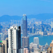 Victoria Harbor aerial view - Stock Photo