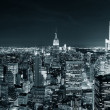 New Yorks manhattan skyline på natten — Stockfoto