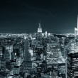 New york city manhattan skyline in de nacht — Stockfoto