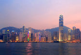 Hong Kong Victoria Harbor morning — Stock Photo