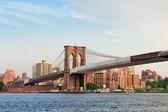 New York City Manhattan Brooklyn Bridge — Stock Photo
