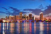 Miami night scene — Stock Photo
