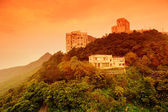Building on mountain top in Hong Kong — Stock Photo