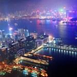Hong Kong aerial night — Stock Photo #11854523