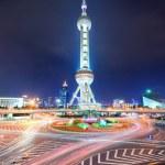 Oriental pearl tower in Shanghai — Stock Photo #11855054