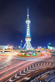 Oriental pearl tower in Shanghai — Stock Photo