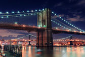 Urban bridge night scene — Stock Photo