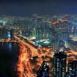 Hong Kong aerial night — Stock Photo