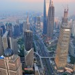 Shanghai aerial at sunset — Stock Photo #12096976