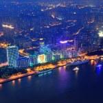 Shanghai aerial at dusk — Stock Photo #12097284