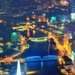 Shanghai aerial at dusk — Stock Photo #12097366