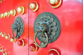 Red Chinese Door in Hong Kong — Stock Photo