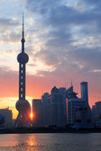 Shanghai morning sunrise — Stock Photo