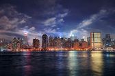 New York City Manhattan midtown at dusk — Stock Photo