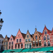 The Markt (Market Square) in Bruges, Belgium — Stok fotoğraf