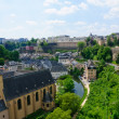 Old town and Fortifications in the City of Luxembourg — Stock Photo