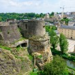 Old town and Wenzelsmauer in City of Luxembourg — Stock Photo #11343892