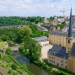 Постер, плакат: Old town and St Jean Baptiste in the City of Luxembourg