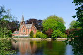Minnewater Park in Bruges, Belgium — Stock Photo