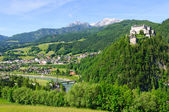 Burg Hohenwerfen and the Town of Werfen in Austria — Stock Photo