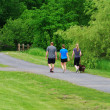 Walkers on a trail — Stock Photo
