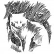 Cat vector drawing. — 图库矢量图片