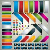 Conjunto de elementos de design web — Vetorial Stock