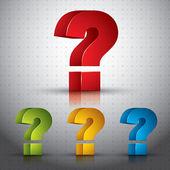 3d soru işareti vektör simgesi. — Stok Vektör