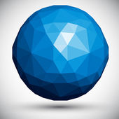 Abstract faceted sphere, 3d vector design. — Stock Vector