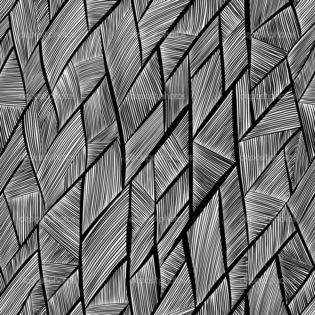 Line Texture Black And White : Seamless pattern black and white abstract lines — stock