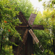 Wooden Windmill facade of the 15th century — Stock Photo #10762485