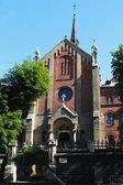 Facade of the church in Lviv (Ukraine) — Стоковое фото