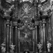 Interior of temple of the Order of Jesuits-. XVII century in the - Stock Photo