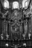 Interior of temple of the Order of Jesuits-. XVII century in the — Stock Photo