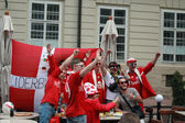 Fans de football du danemark — Photo